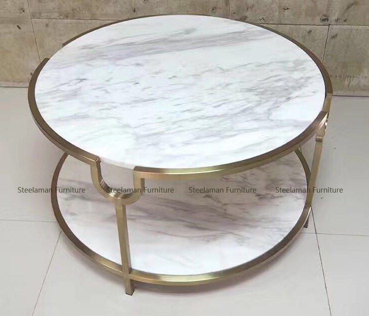 Coffee Shop Furniture Gold Metal Table Legs Modern Coffee Table Made
