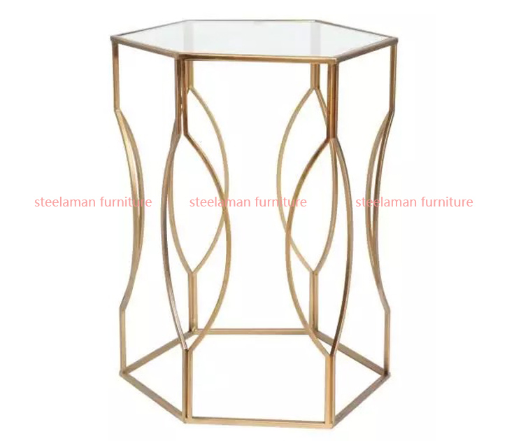 Stainless steel end table G302