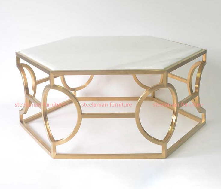 Stainless steel coffee table G023