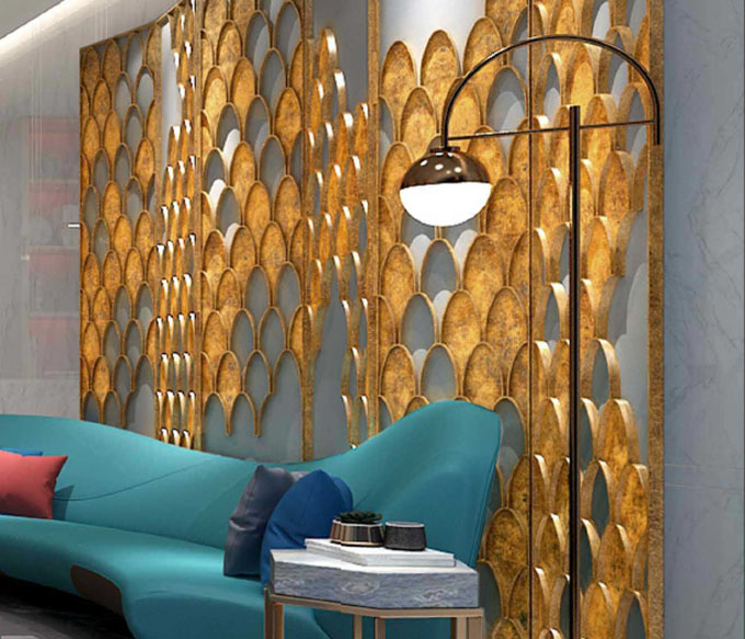 Stainless Steel Screen Partition Hotel Decoration Project Products