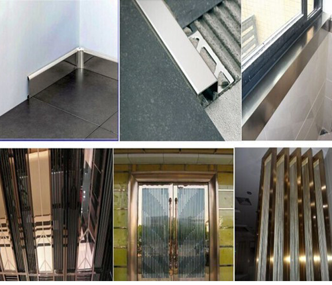 Stainless steel decorative skirting