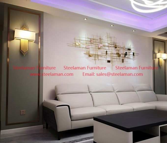 Gold metal wall art decoration manufacture